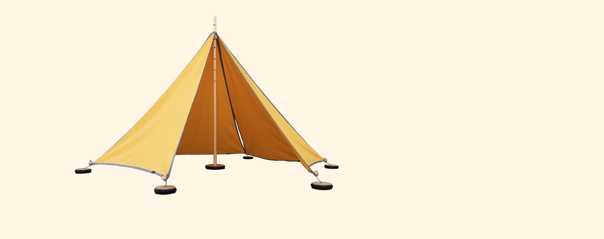 Yellow abel Small Tent with Pegs & Weights
