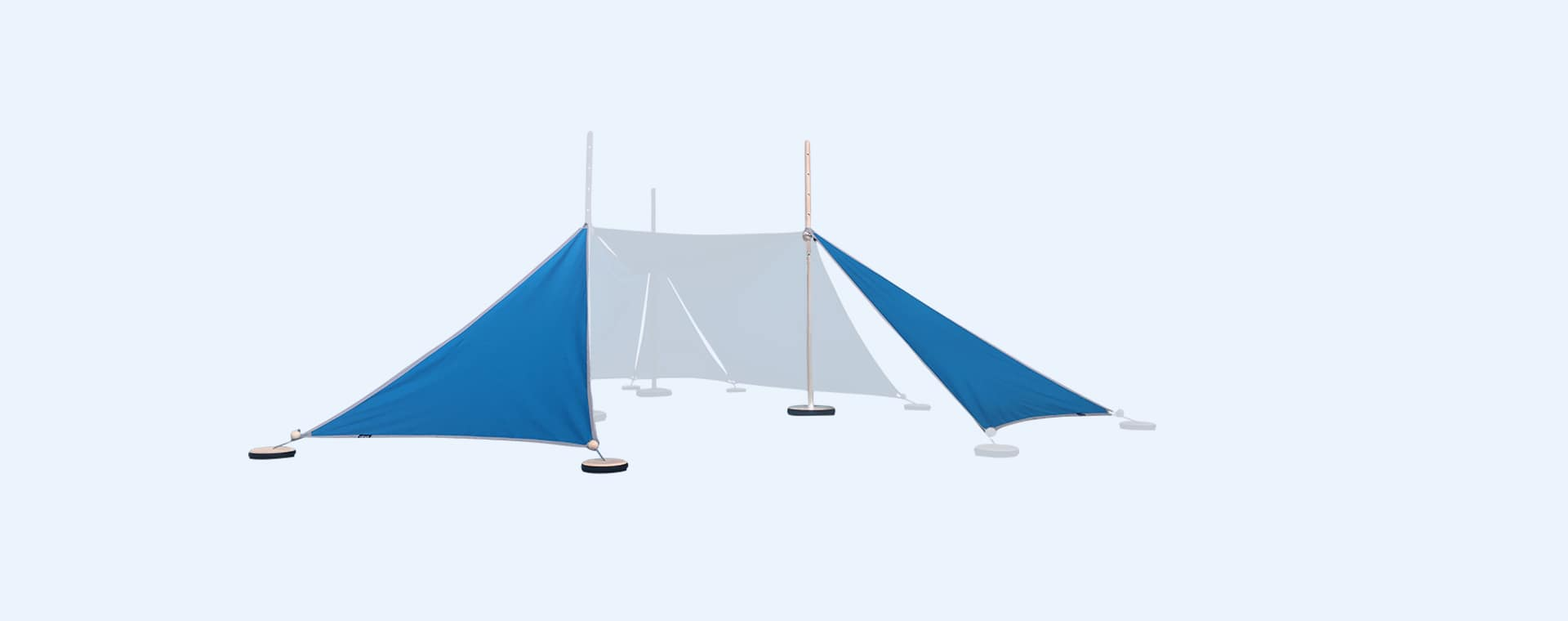 Turquoise abel Tent Extension Kit 2-3 with Pegs & Weights