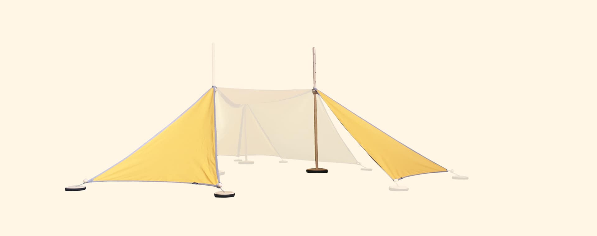 Yellow abel Tent Extension Kit 2-3 with Pegs & Weights