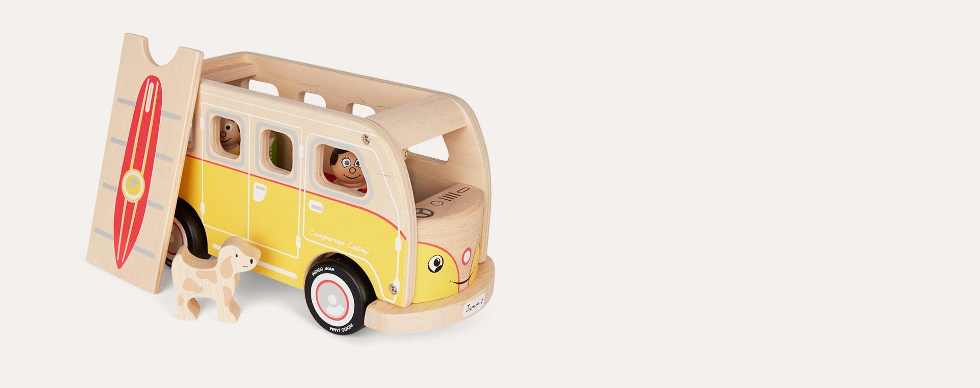 Yellow Indigo Jamm Casey Camper Van