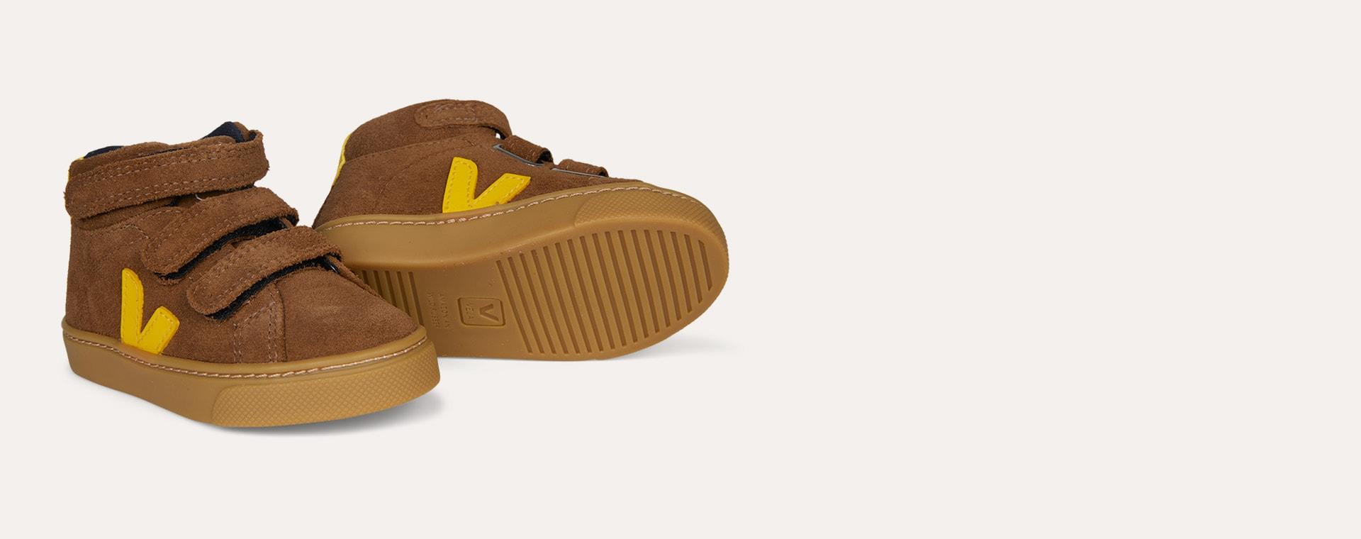 Brown Tonic Veja Esplar Mid Small Velcro Trainer