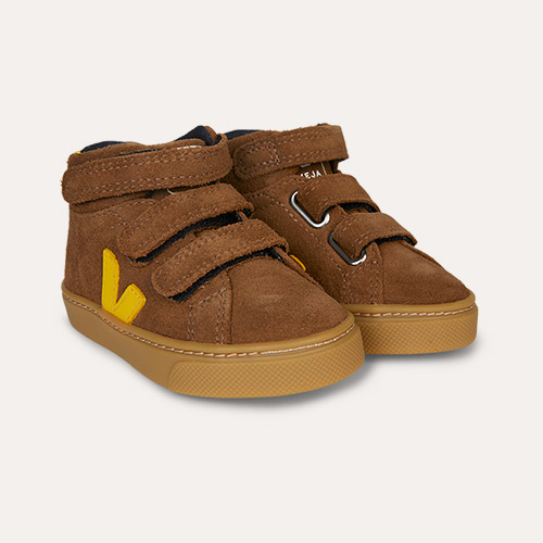 Brown Tonic Veja Esplar Mid Small Velcro Trainer