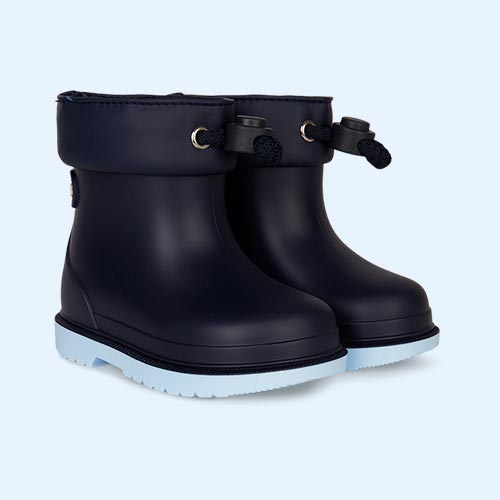 Navy igor Bimbi Bicolour Ankle Welly