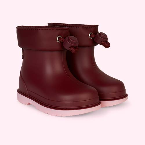 Burgundy igor Bimbi Bicolour Ankle Welly