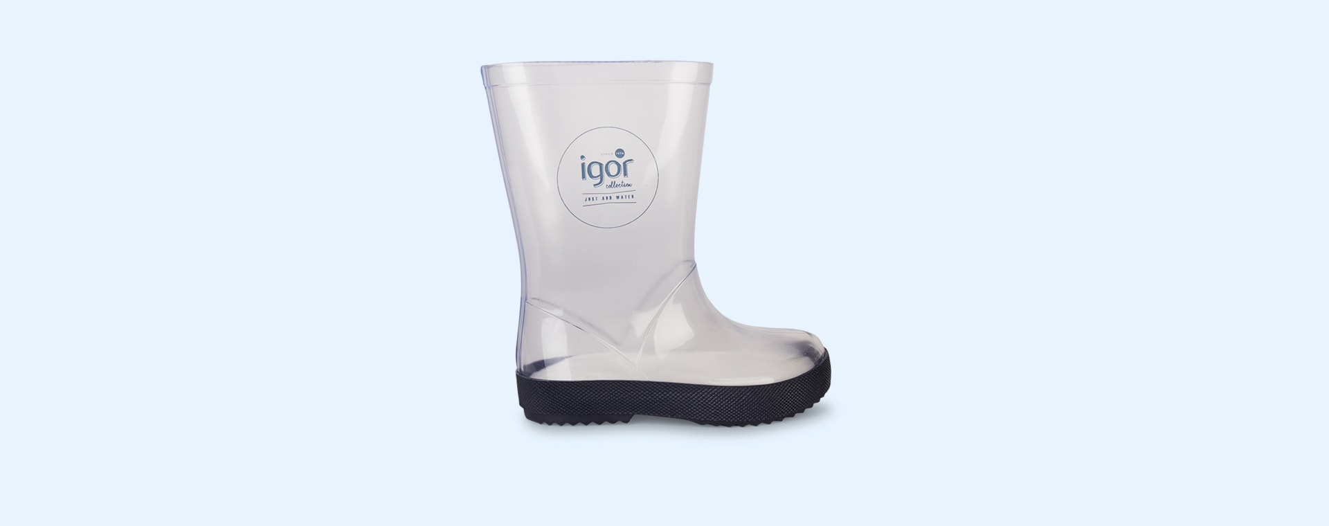 Navy igor Splash Crystal Transparent Wellies & Socks