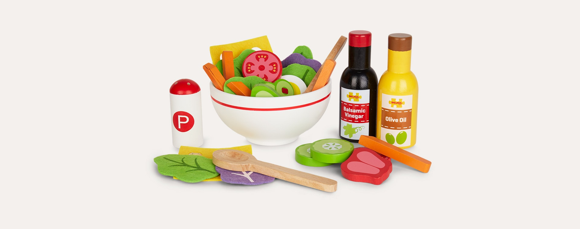 Multi Bigjigs Salad Set