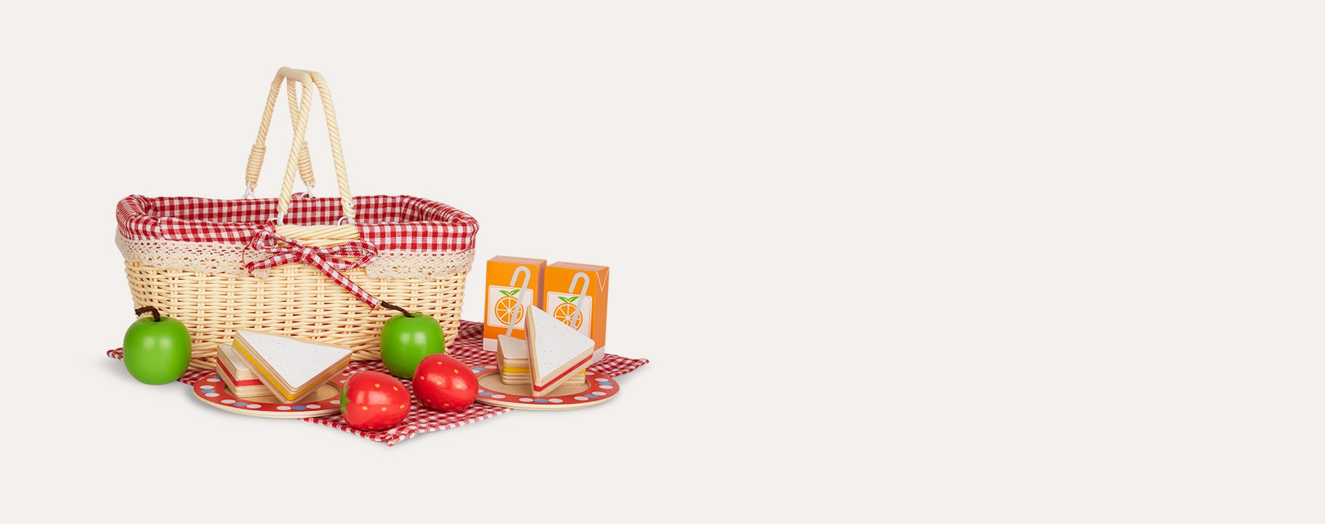 Multi Bigjigs Picnic Basket