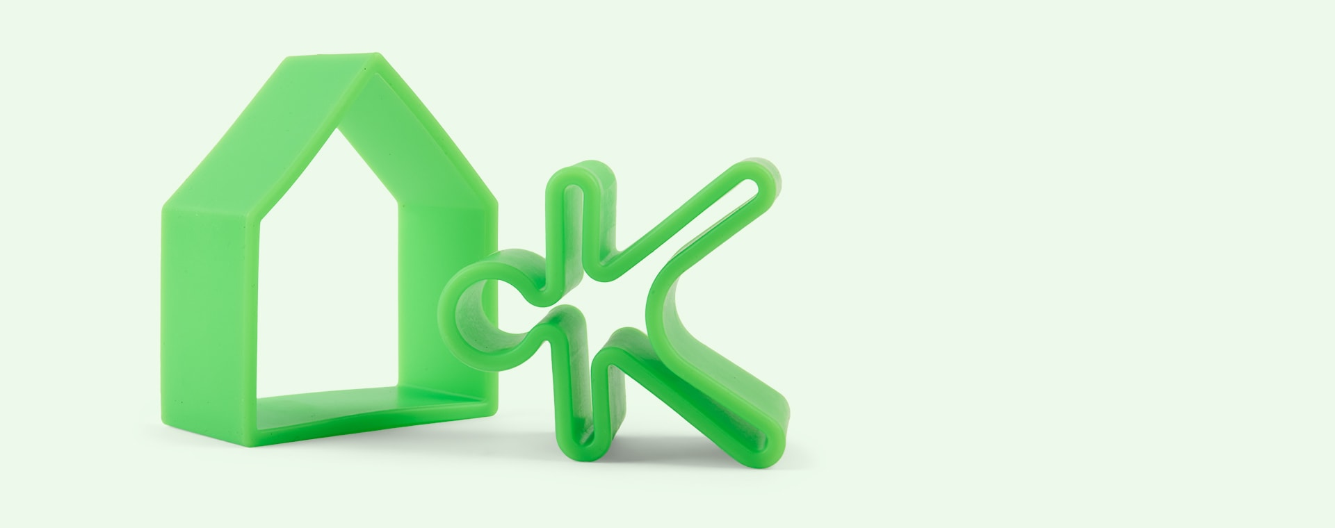 Green Dëna 2 Piece Set People & House