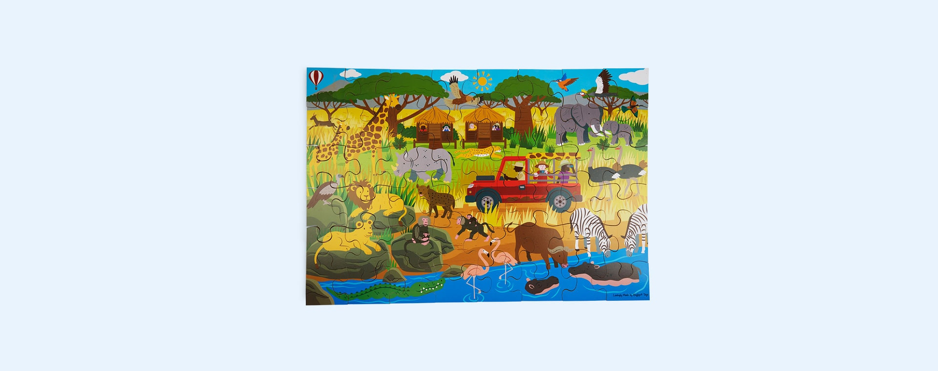 Multi Bigjigs African Adventure Floor Puzzle (48 piece)