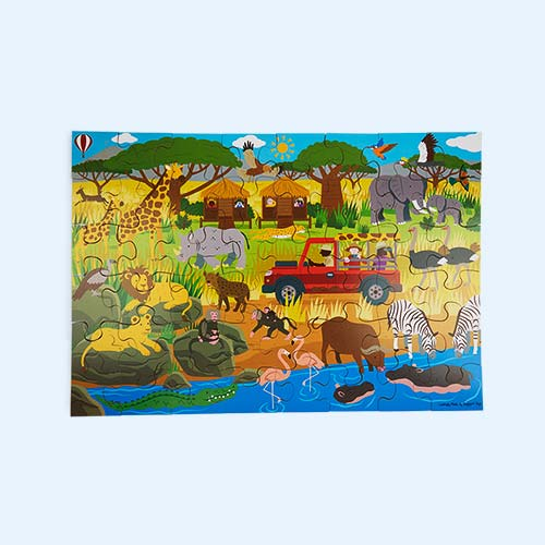 Multi Bigjigs African Adventure Floor Puzzle (48 piece)