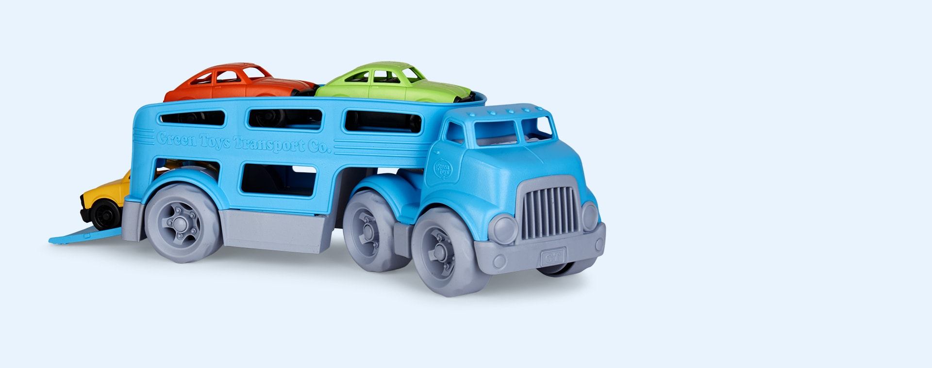 Blue Green Toys Car Carrier