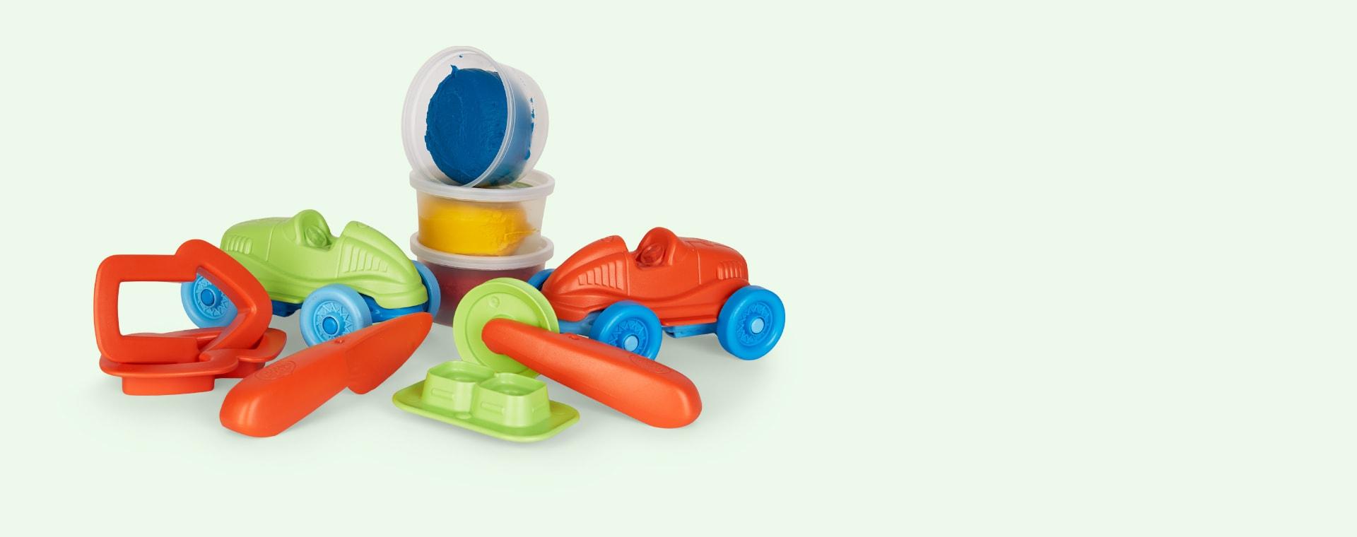 Multi Green Toys Race Car Maker Dough Set
