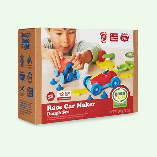 Multi Green Toys Race Car Maker Dough Set