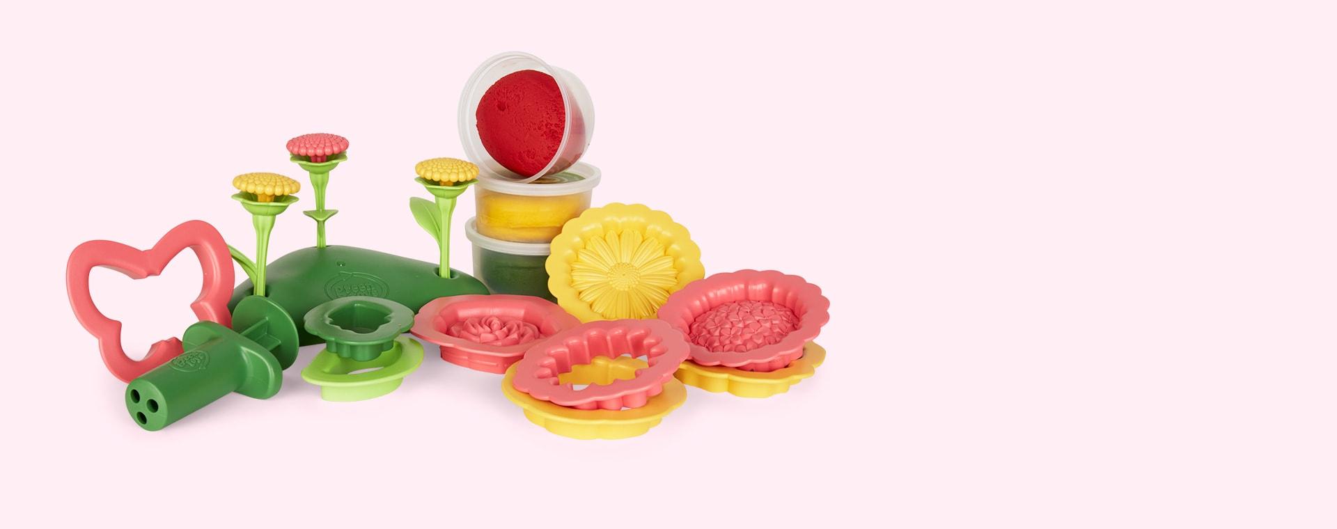 Multi Green Toys Flower Maker Dough Set
