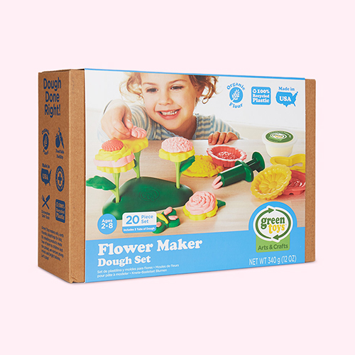 Multi Green Toys Flower Maker Dough Set