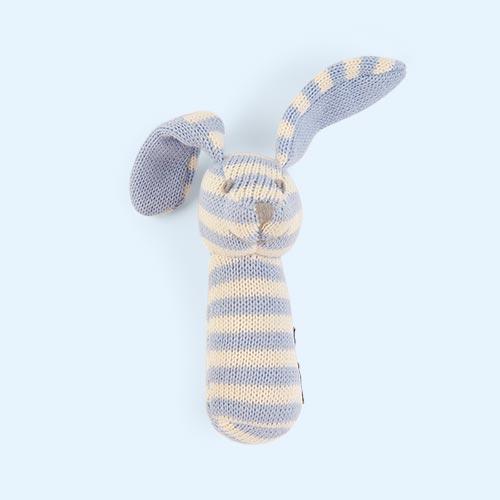 Blue Minene Knitted Rattle