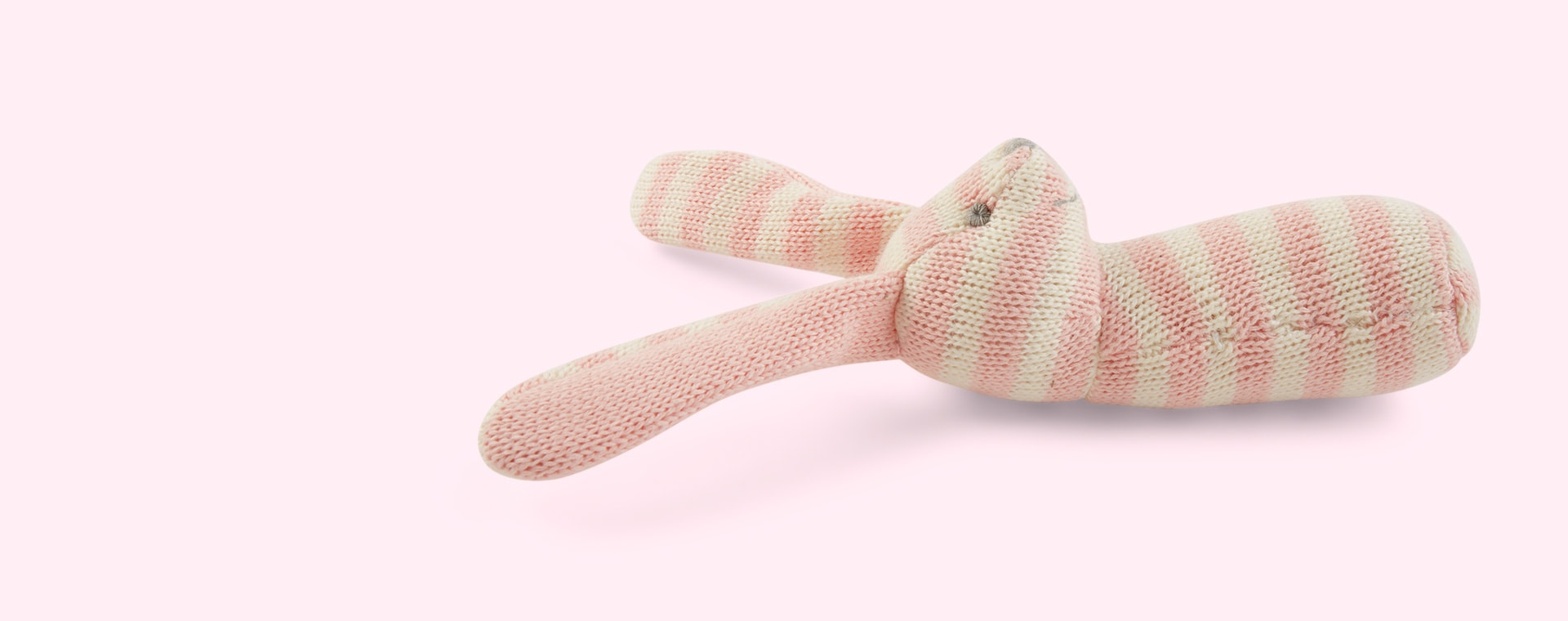 Pink Minene Knitted Rattle