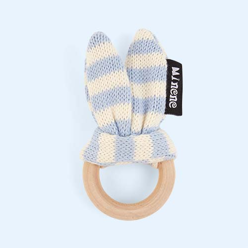 Blue Minene Wooden Teething Ring