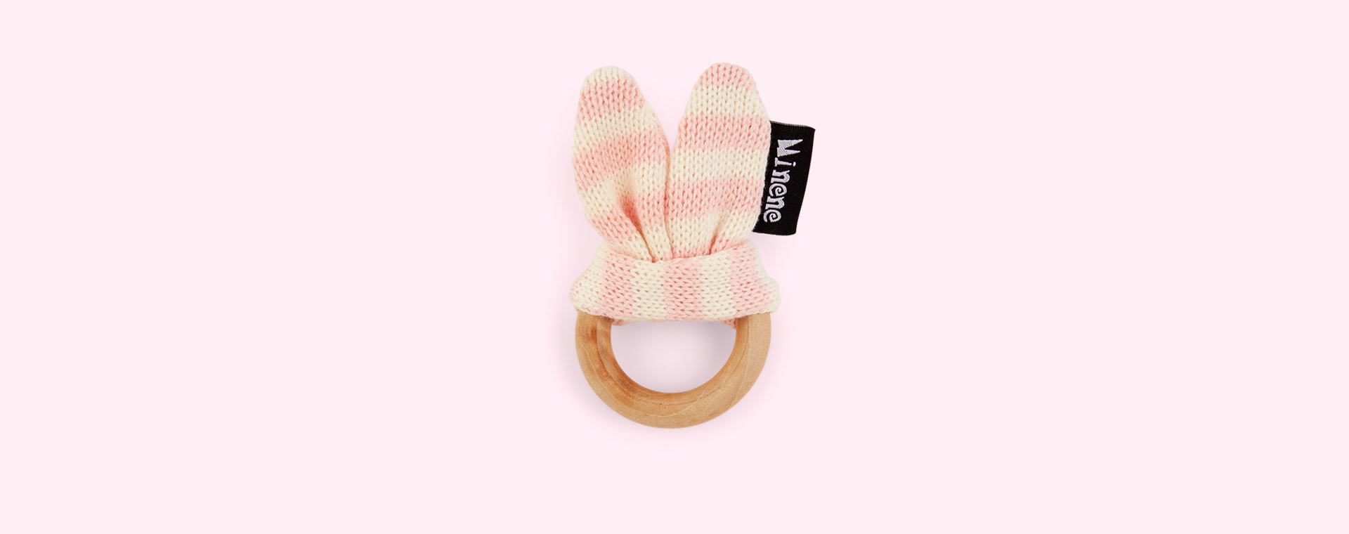 Pink Minene Wooden Teething Ring