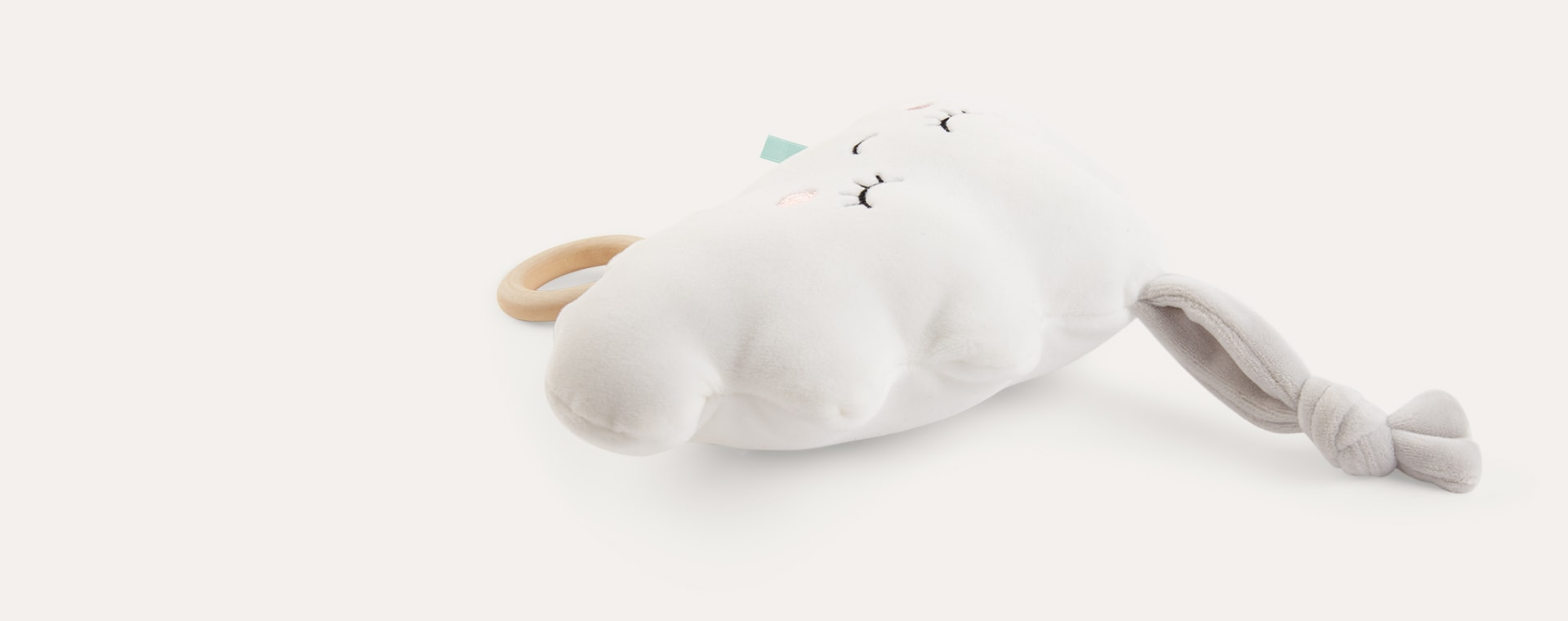 White Minene Musical Cloud Mobile Toy