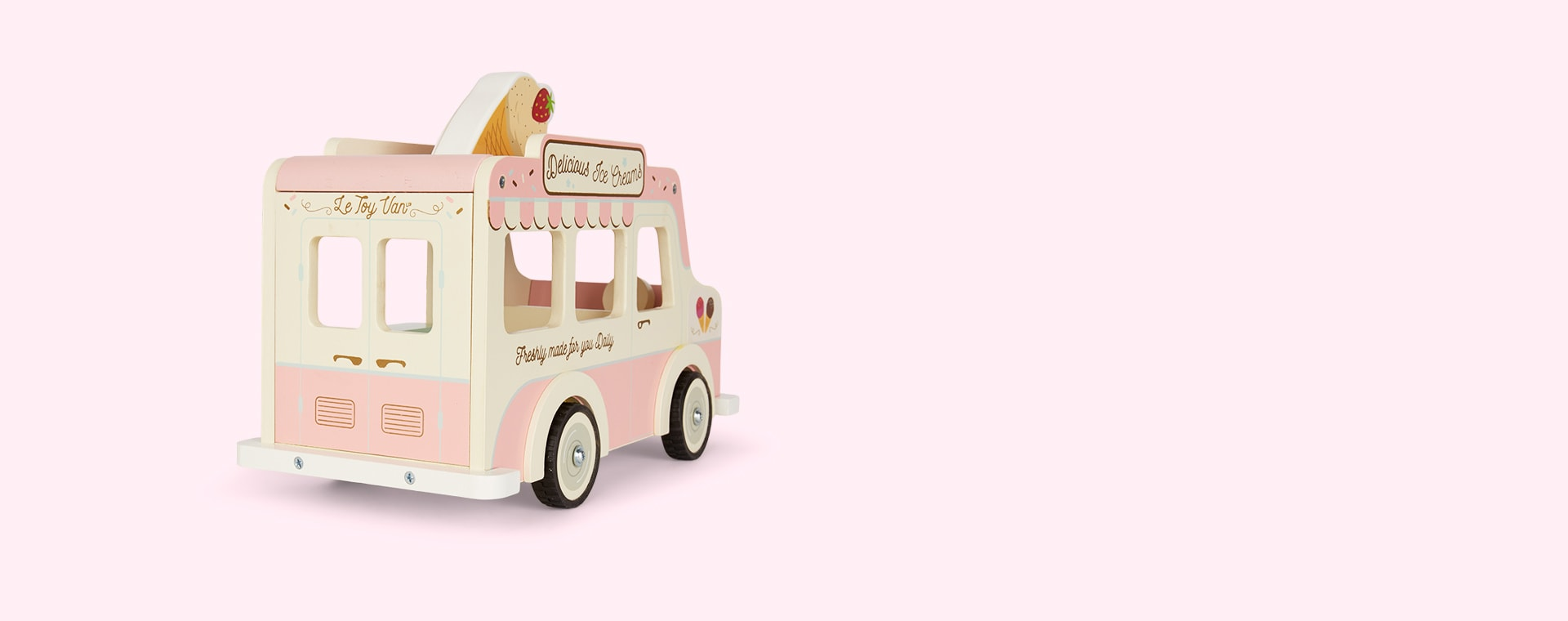 Pink Le Toy Van Dolly Ice Cream Van