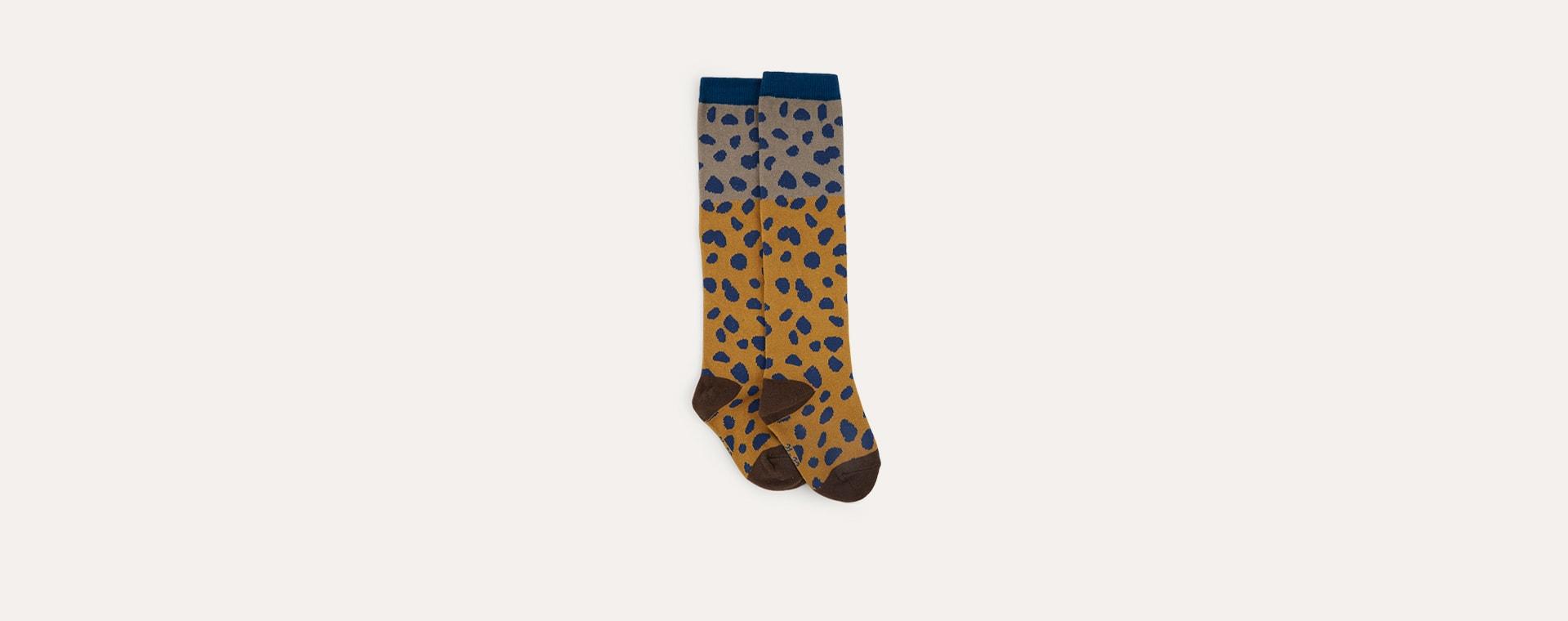 Brown Boxbo High Sock