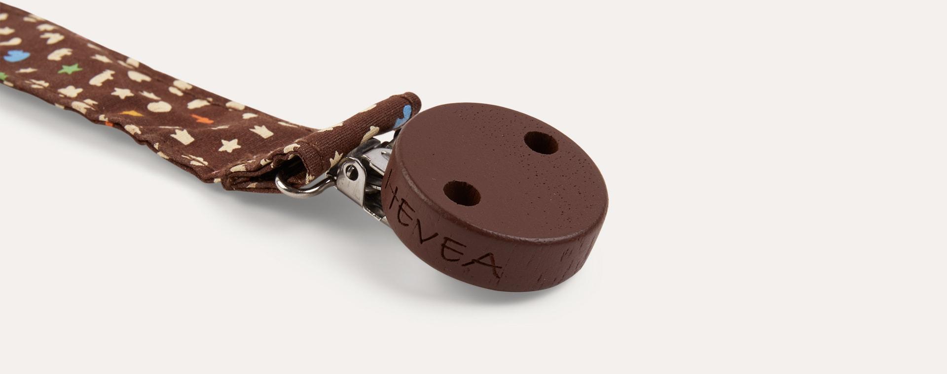 Brown Hevea Pacifier Holder