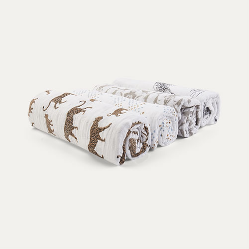 Hear Me Roar aden + anais Classic Cotton Swaddle - 4 Pack