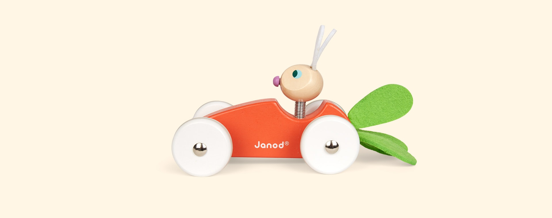 Orange Janod Carrot Car