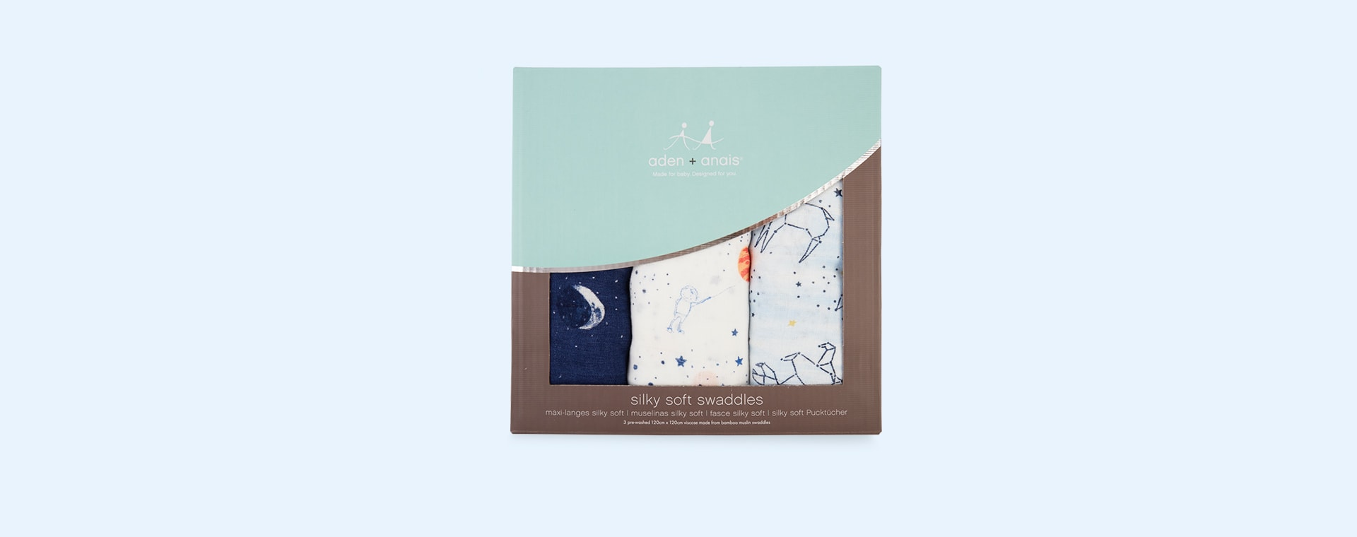 Stargaze aden + anais Silky Soft Swaddle - 3 Pack