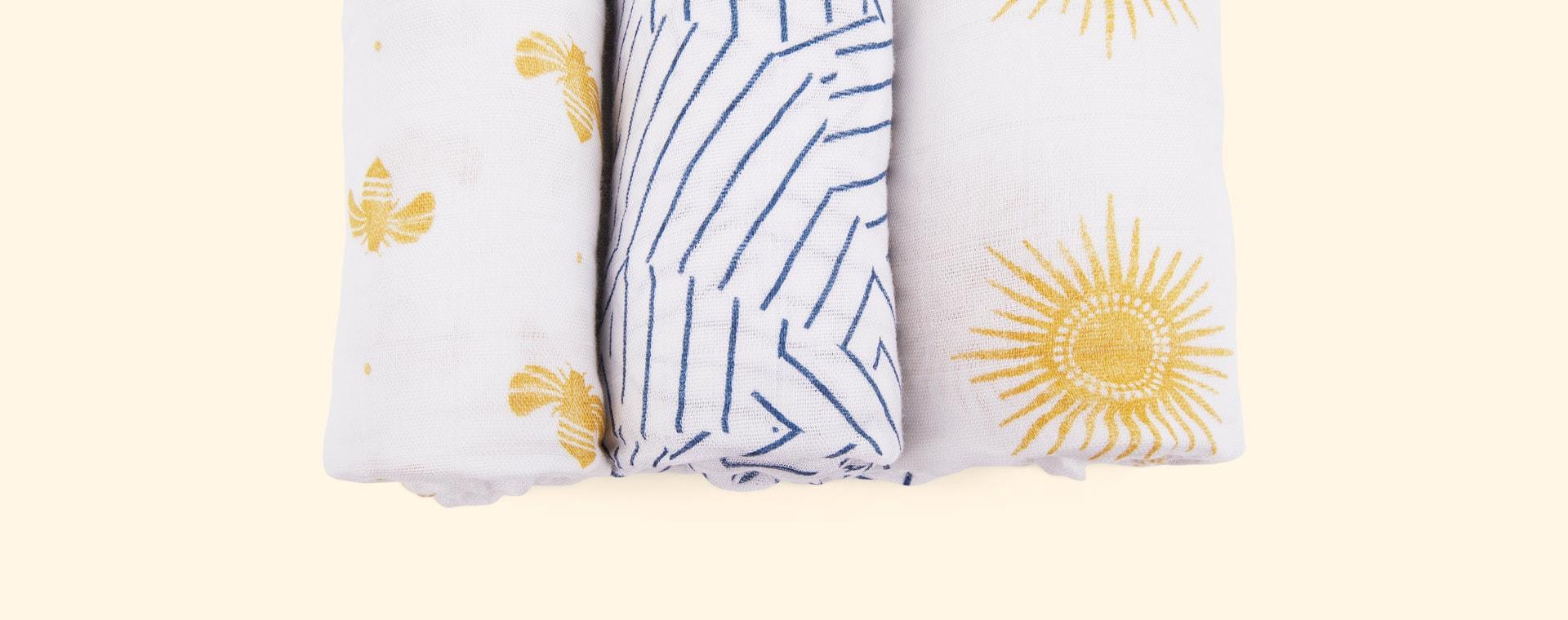 Golden sun aden + anais 3-Pack Silky Soft Swaddle