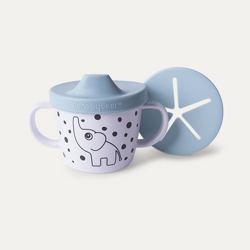 Blue Done By Deer Silicone Spout and Snack Cup