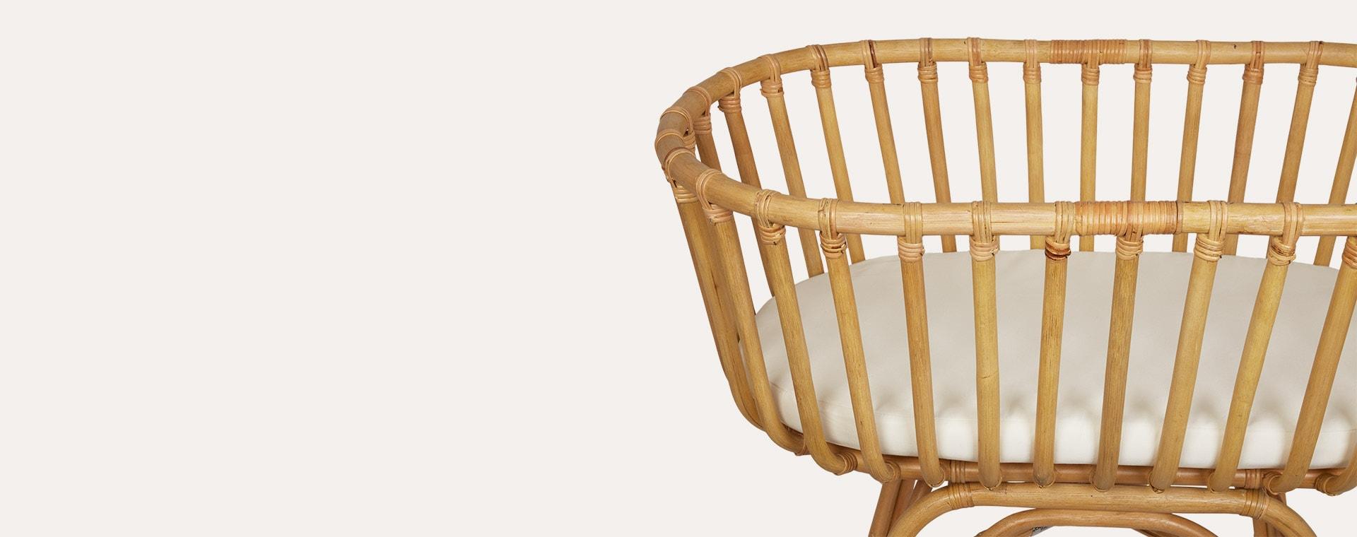 Neutral Childhome Rattan Cradle & Mattress