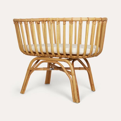 Neutral Childhome Rattan Cradle & Mattress