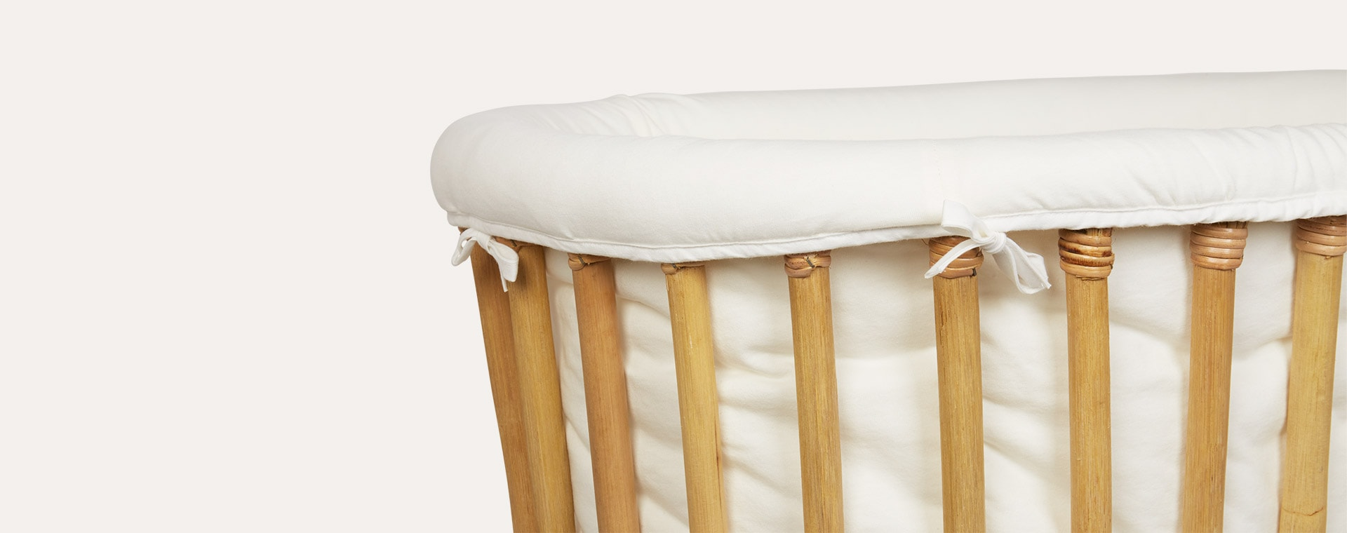 Ecru Childhome Rattan Cradle Cover