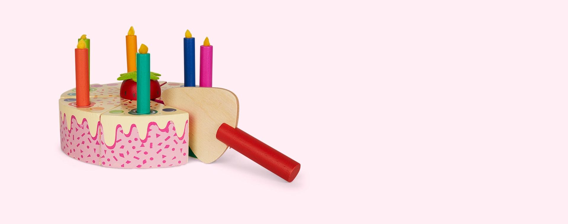 Multi Tender Leaf Toys Rainbow Birthday Cake
