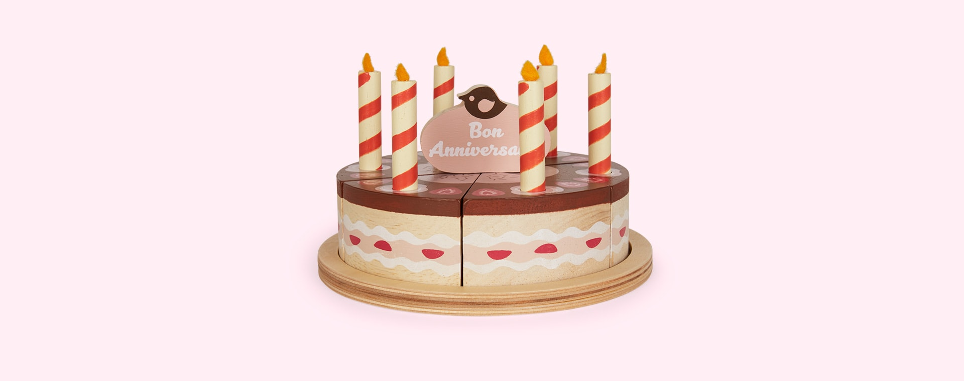 Brown Tender Leaf Toys Chocolate Birthday Cake