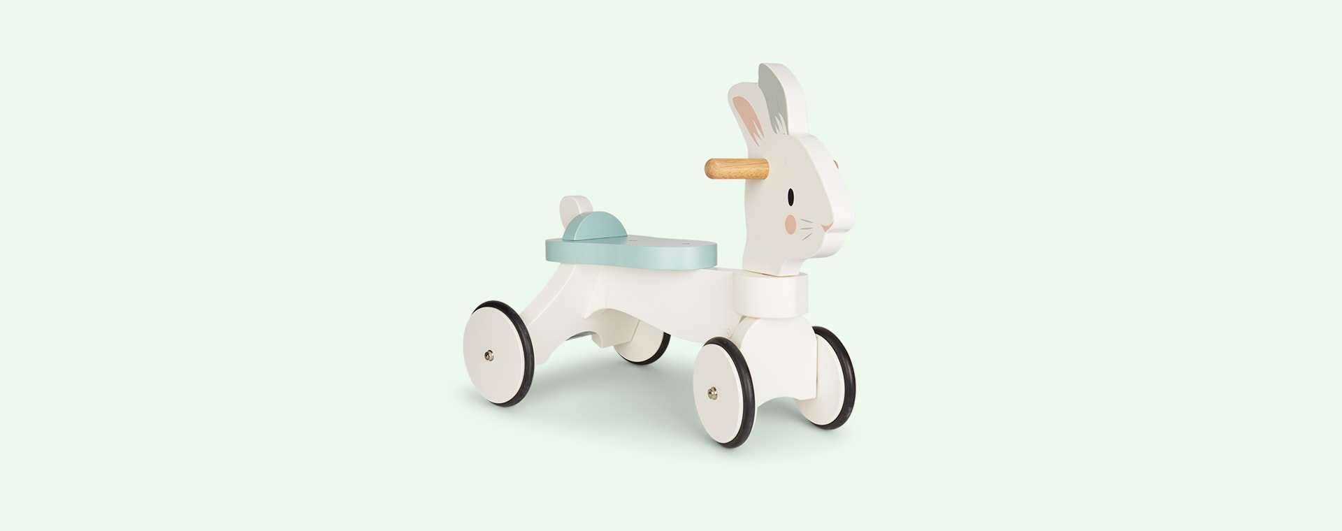 White Tender Leaf Toys Running Rabbit Ride-On
