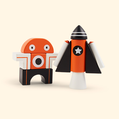 Orange Tender Leaf Toys Galaxy Magblocs
