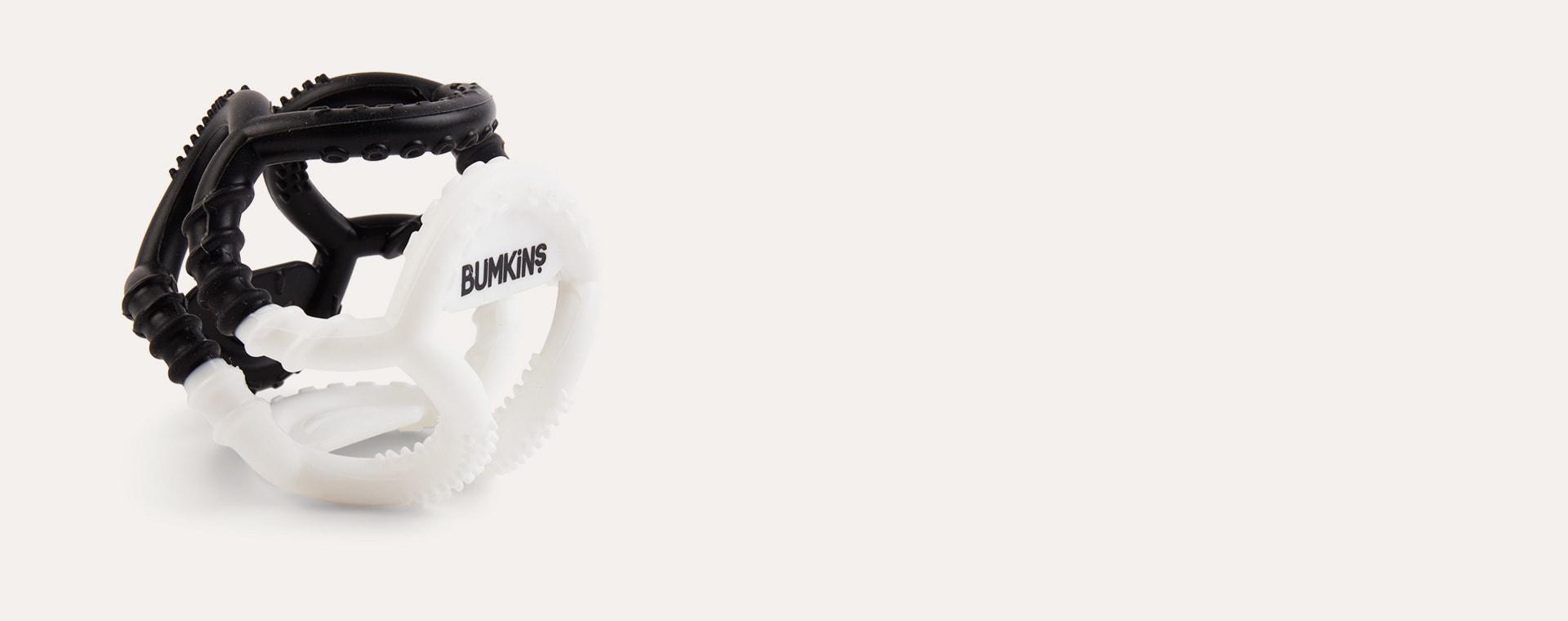 Monochrome Bumkins Silicone Sensory Teether