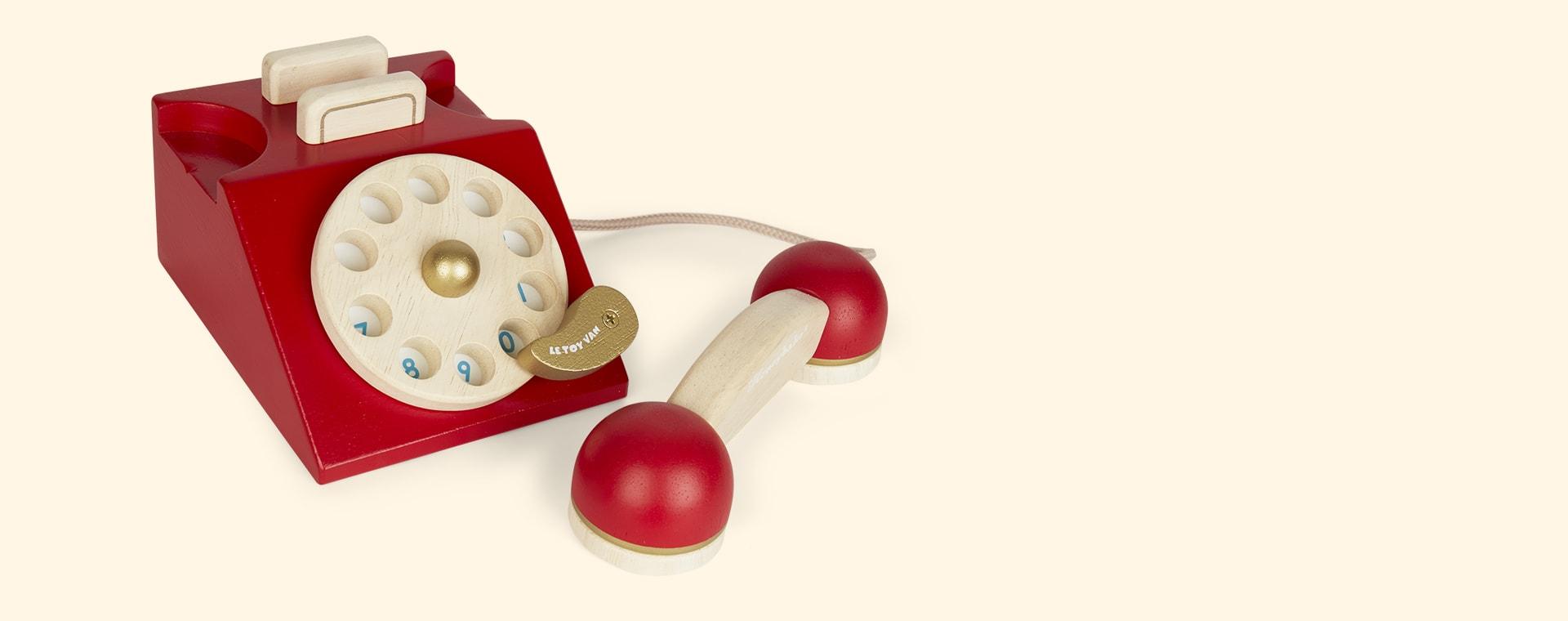 Red Le Toy Van Vintage Phone