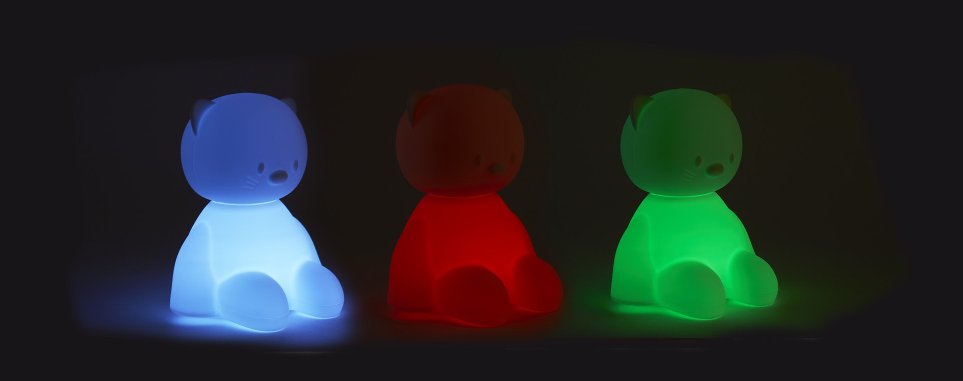 Cat Nattou Voice Activated Colour Changing Nightlight