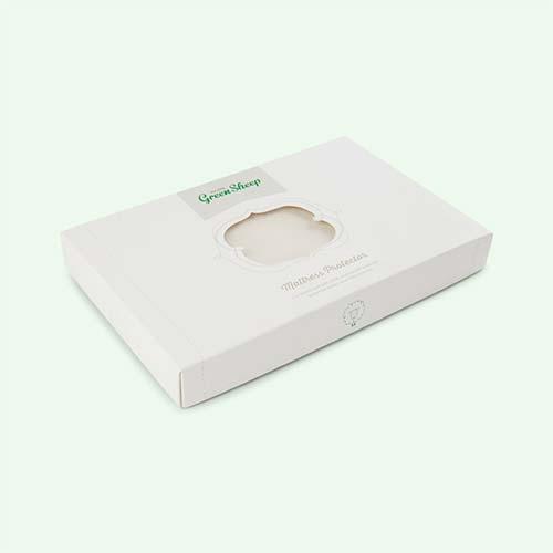 White The Little Green Sheep Organic Crib Mattress Protector