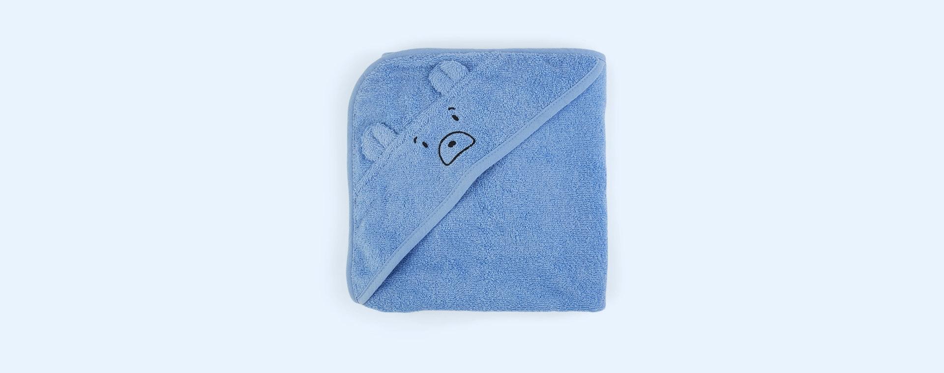 Mr Bear Sky Blue Liewood Albert Hooded Towel