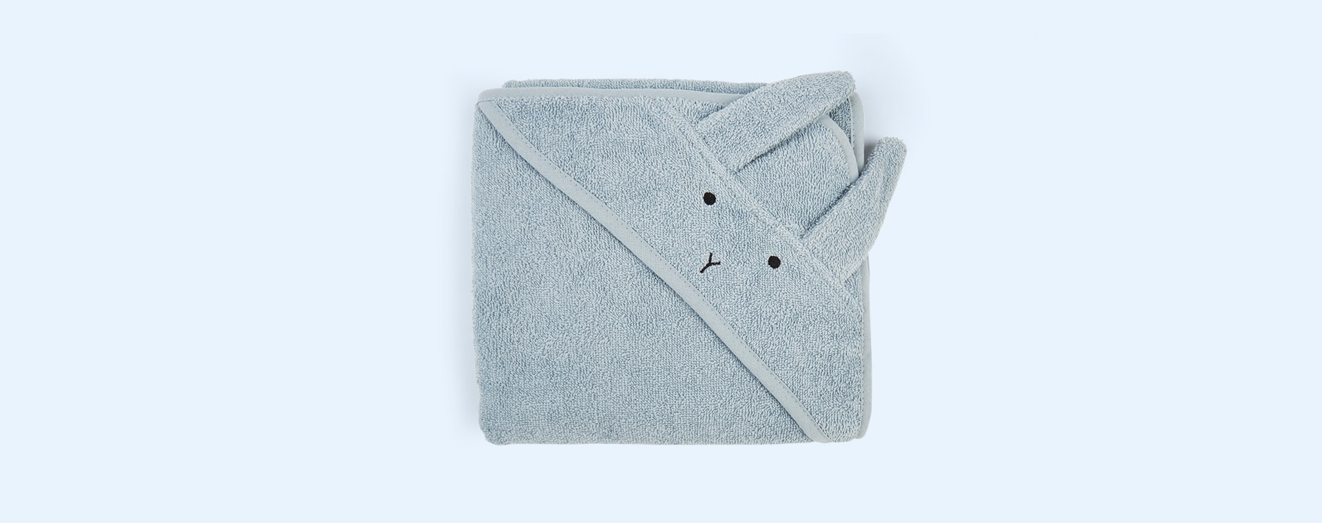 Rabbit Sea Blue Liewood Albert Hooded Towel