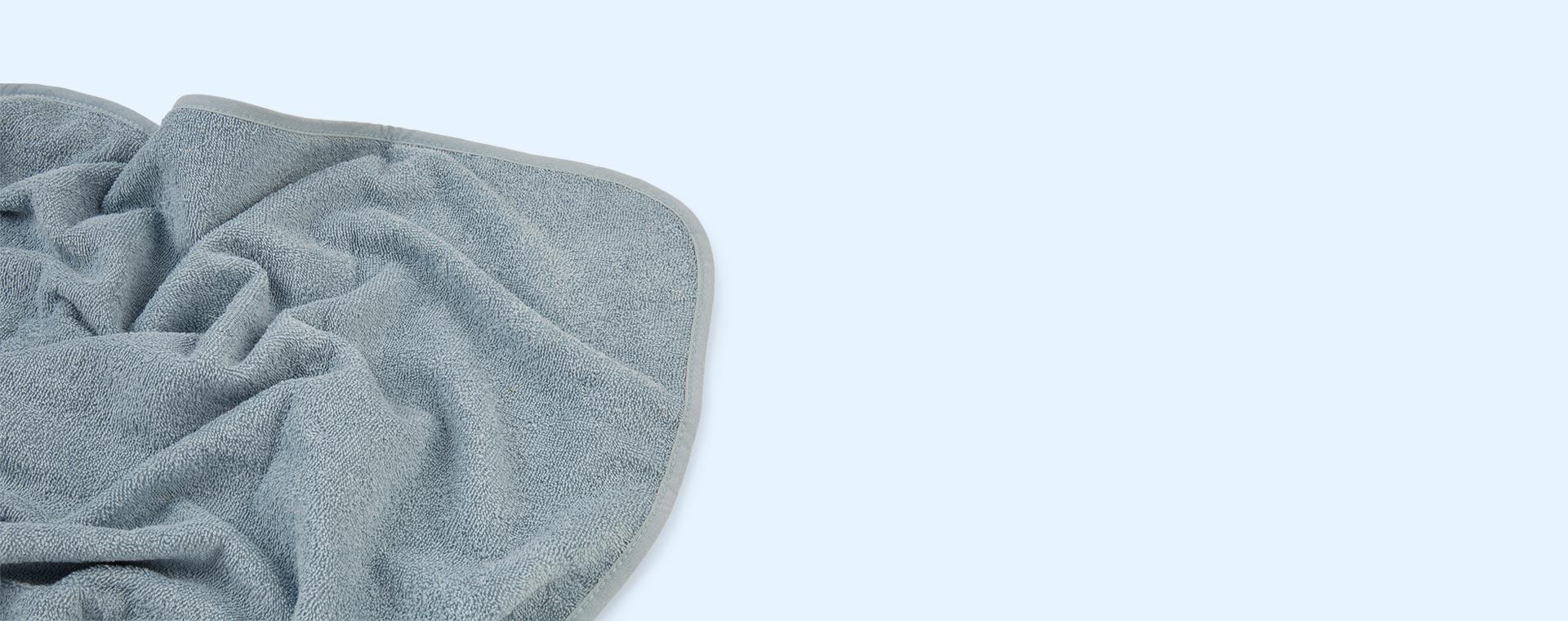 Rabbit Sea Blue Liewood Albert Hooded Towel