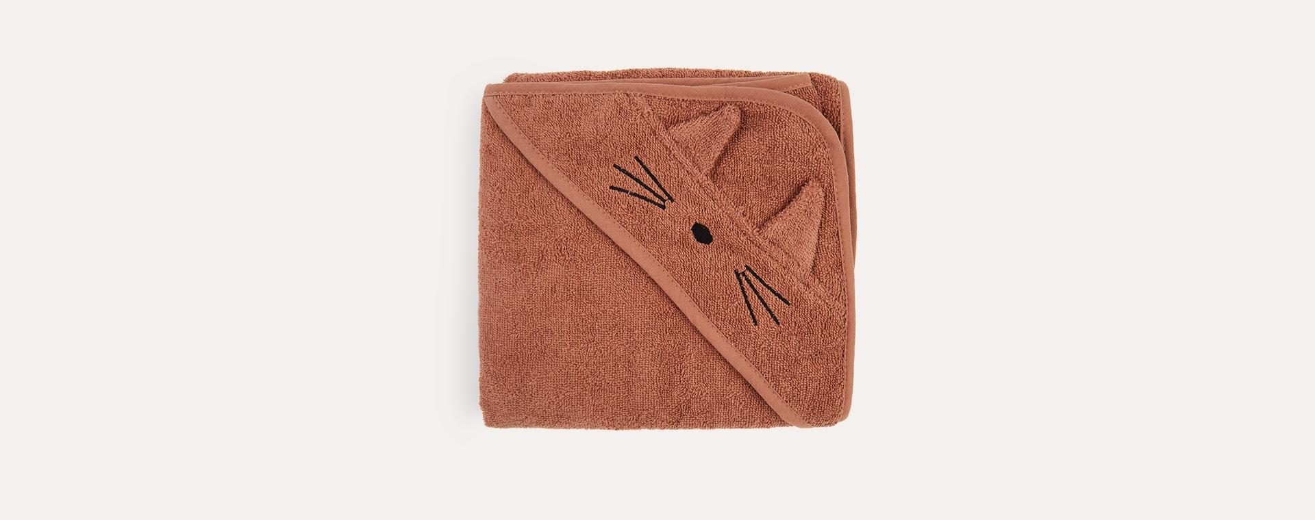 Cat Terricotta Liewood Albert Hooded Towel