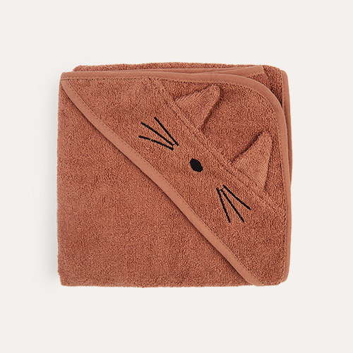 Cat Terricotta Liewood Albert Hooded Towel