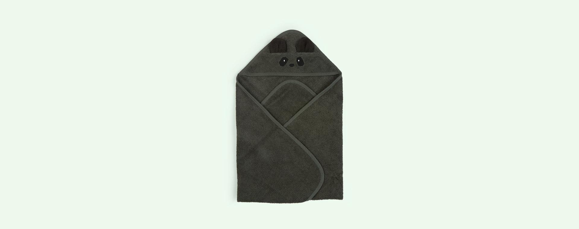 Panda/Hunter Green Liewood Albert Hooded Towel