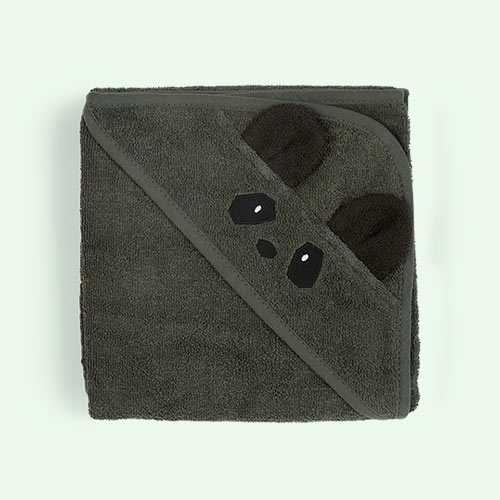 Panda/Hunter Green Liewood Albert Hooded Towel